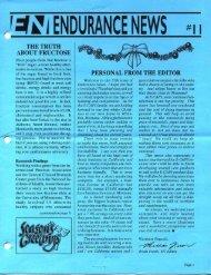 r::f~ J ENDURANCE NEWS - Hammer Nutrition