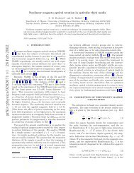 Nonlinear magneto-optical rotation in optically thick media