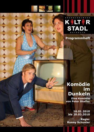 """Programmheft """"Komödie im Dunkeln"""""""