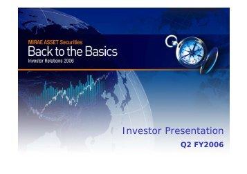 Investor Presentation - Mirae Asset Securities