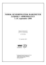 Norsk seniorpolitisk barometer 2005 - Senter for seniorpolitikk