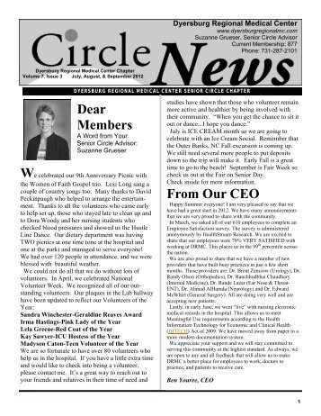 July Aug Sept 2012 Newsletter.pub - Dyersburg Regional Medical ...