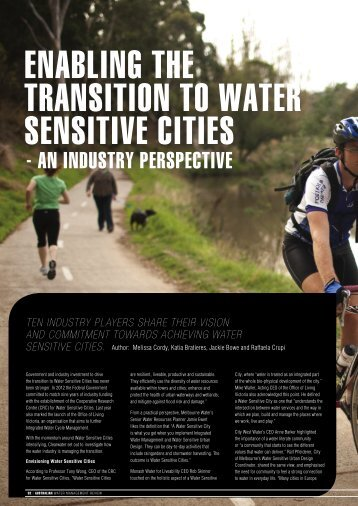 Enabling the transition to Water Sensitive Cities - an ... - Clearwater