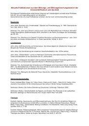 Die aktuellen Publikationen aus dem Bildungs - Zentrum für ...