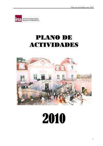 Plano de Actividades para 2010 - Portal do Cidadão