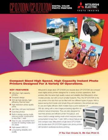 CP-D70DW/CP-D707DWDIGITAL COLOR - Mitsubishi Imaging