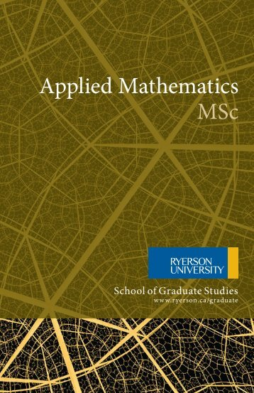 Applied Mathematics MSc - Mathematics - Ryerson University