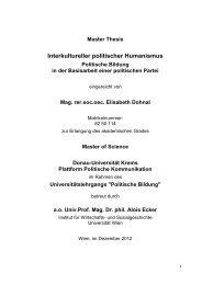 Universell interkultureller Humanismus in der politischen Bildung