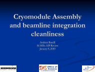 Cryomodule Assembly and beamline integration