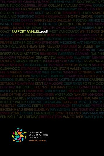 Rapport annuel 2008 - Community Foundations of Canada