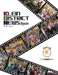 Spring 2012 - Klein Independent School District