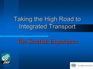 Taking the High Road to Integrated Transport - TRICS