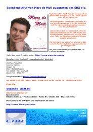 Helft mit Spendenaufruf von Marc de Muti zugunsten des ... - Eurordis