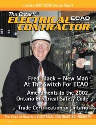 Summer 2007 - Electrical Contractors Association of Ontario