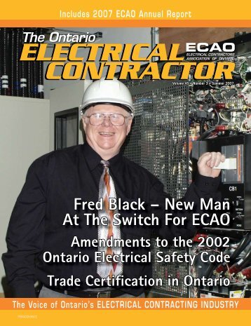 Summer 2007 - Electrical Contractors Association of Ontario