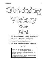 Obtaining Victory Over Sin - NetBibleStudy.com
