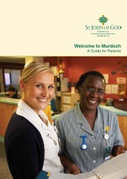 Welcome to Murdoch - St John of God Health Care