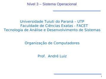 Nível de Sistema Operacional - Gerds - Universidade Tuiuti do Paraná