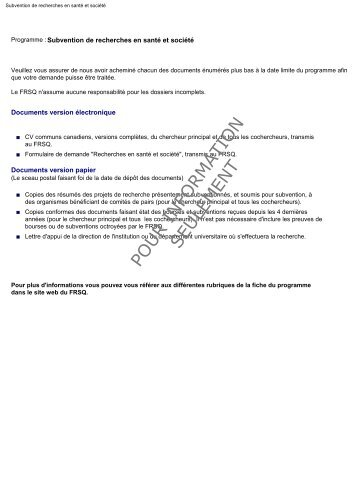 Subventions de recherches en santé et société - Fonds de la ...