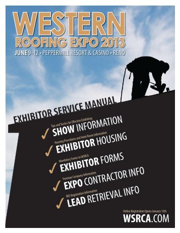 roofing expo 2013 - Western States Roofing Contractors Association