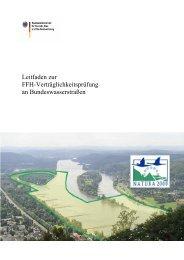 Leitfaden zur FFH-Verträglichkeitsprüfung an Bundeswasserstraßen
