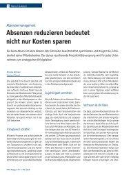 Absenzenmanagement spart nicht nur Kosten - KMU Ratgeber