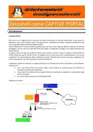 Zeroshell come CAPTIVE PORTAL - Paolo PAVAN