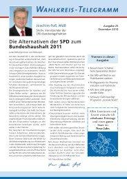 Wahlkreis-Telegramm Nr. 25 - Joachim Poß