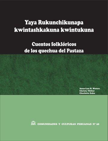 Cuentos folkloricos de los quechua del Pastaza