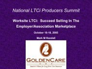National LTCi Producers Summit - Long Term Care Insurance