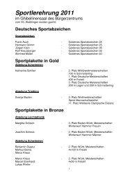 Sportlerehrung 2011 - VfL Waiblingen