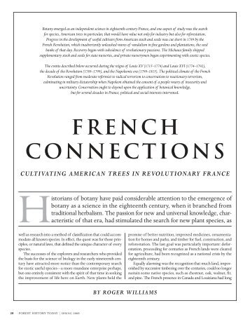 FRENCH CONNECTIONS - The Forest History Society