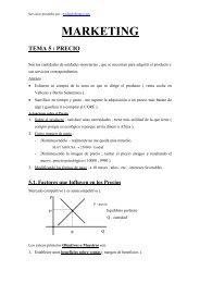 MARKETING TEMA 5 : PRECIO - Ecobachillerato