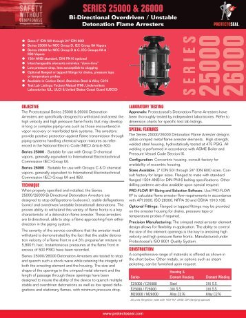 Specification Sheet - Protectoseal