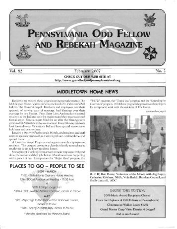 Feb - Grand Lodge of Pennsylvania, Independent Order of Odd ...