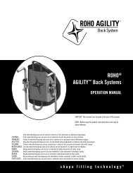ROHO® AGILITY™ Back Systems OPERATION MANUAL