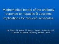 Mathematical model of the antibody response to hepatitis B vaccines ...
