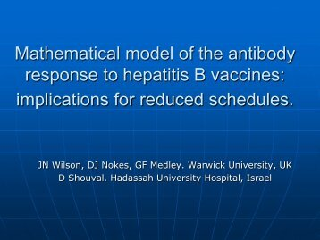 Mathematical model of the antibody response to hepatitis B vaccines ...