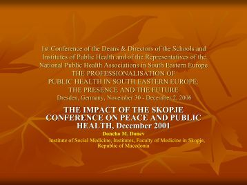 1st Conference of the Deans & Directors of the Schools and ...