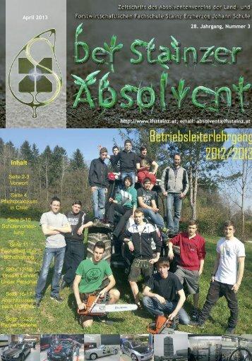 Betriebsleiterlehrgang 2012/2013 - LFS Stainz