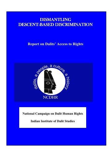 dismantling dismantling descent-based discrimination based ...