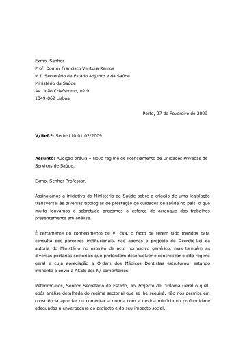 Posição da OMD relativamente ao projecto de Decreto-Lei