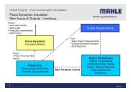 Virtual Engine - Piston Dynamics