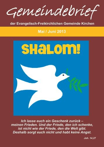Mai / Juni - EFG-Kirchen