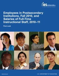 Employees in Postsecondary Institutions, Fall 2010, and Salaries of ...