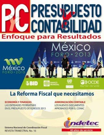 Presupuesto y Gasto Público con Base en Resultados - Indetec