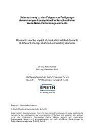 Untersuchung zu den Folgen von Fertigungs- abweichungen ...