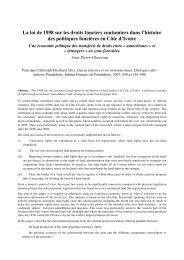 La loi de 1998 sur les droits fonciers coutumiers dans l'histoire des ...