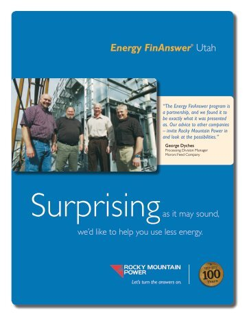 Energy FinAnswer® Utah - Rocky Mountain Power
