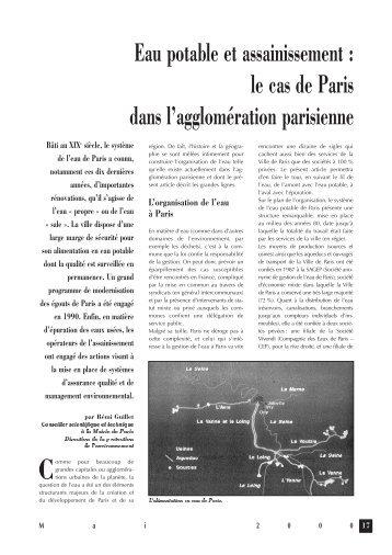 Eau potable et  assainissement : le cas de Paris dans l ...